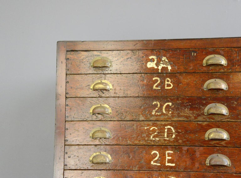 English workshop drawers, circa 1930s