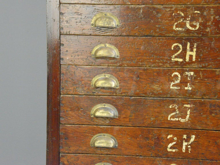 Industrial English Workshop Drawers, circa 1930s For Sale