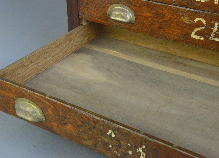 Pine English Workshop Drawers, circa 1930s For Sale