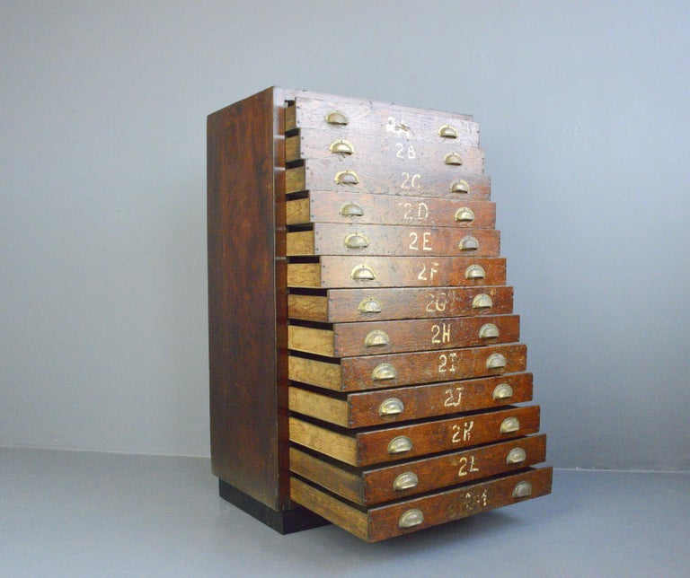 English Workshop Drawers, circa 1930s For Sale 2