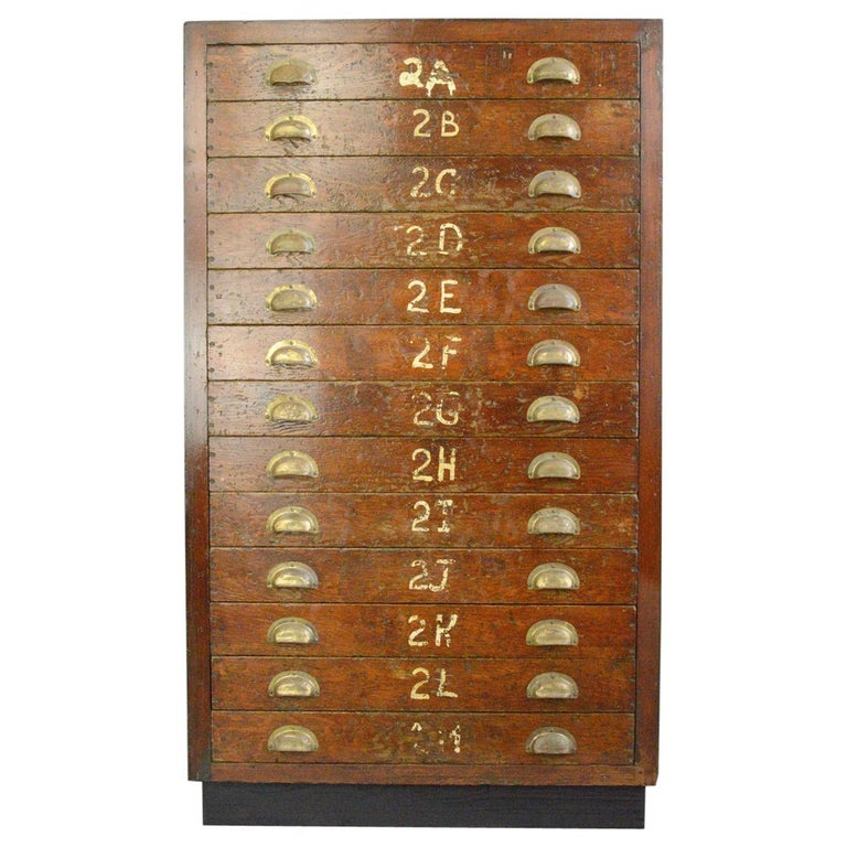 English Workshop Drawers, circa 1930s For Sale