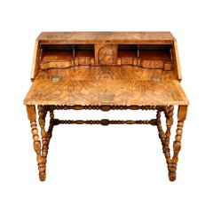 English Writing Desk Table Plat 1930s Fold Down