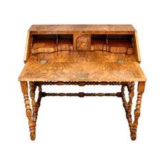 English Writing Desk Table Plat 1930s Fold Down