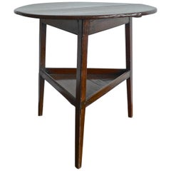 English 19th Century Small Stained Walnut Cricket Table.