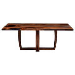 English Yew and Resin Table by Jonathan Field, Unique