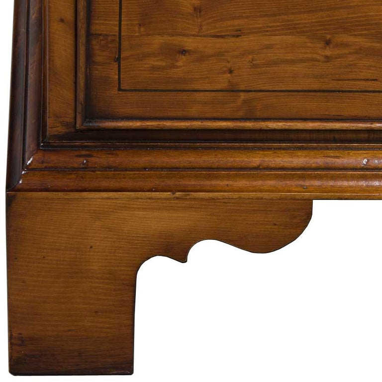 English Yew Wood Secretaire Secretary Bookcase Butlers Desk For Sale 5