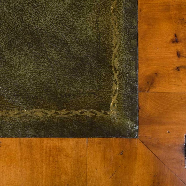 English Yew Wood Secretaire Secretary Bookcase Butlers Desk In New Condition For Sale In Atlanta, GA