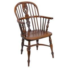 English Yew Wood Windsor Armchair