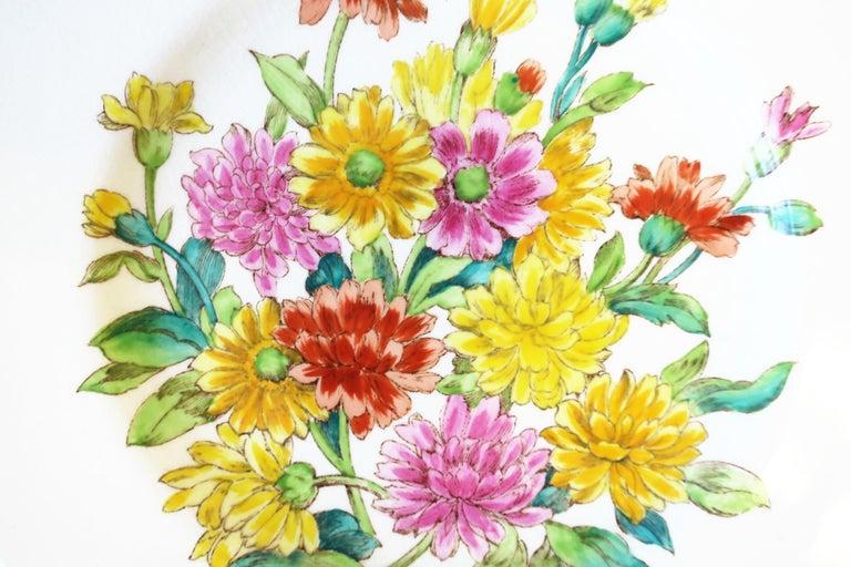 20th Century English Zinnia Flower Plate