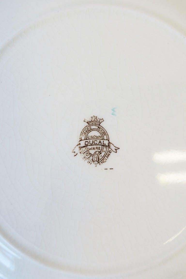 Ceramic English Zinnia Flower Plate