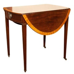 English, Satinwood Banded Pembroke Table