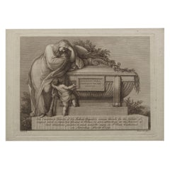 Engraved Admission Ticket for Funeral of Sir Joshua Reynolds, circa 1792