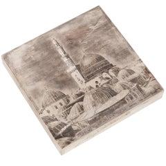 Engraved Silver Box of Medina by Mario Buccellati