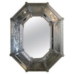 Engraved Venetian Glass Mirror