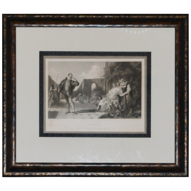 "Engraving after Daniel Masclise ""Mavolio"" For Sale"