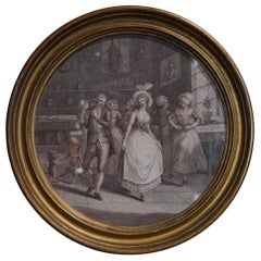 Engraving, Dancing in the Kitchen, circa 1800