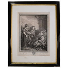 19th Century Engraving or Print in Frame