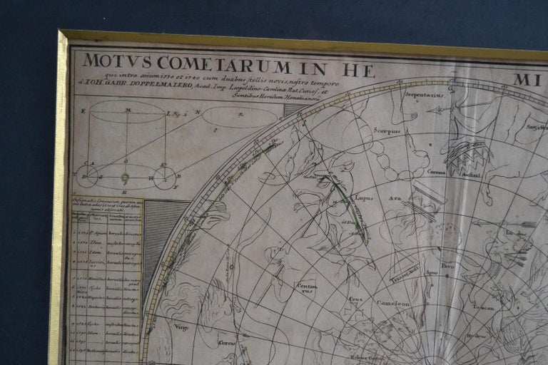 Engravings Celestial Charts, Cartographer, Astronomer Doppelmayr from 1740 For Sale 5