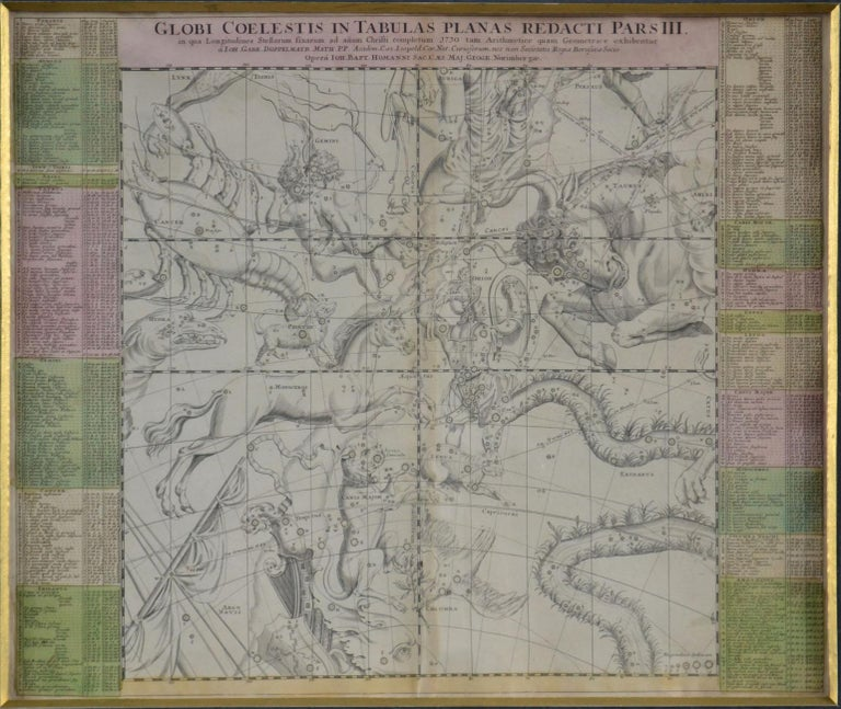Engravings Celestial Charts, Cartographer, Astronomer Doppelmayr from 1740 For Sale 9