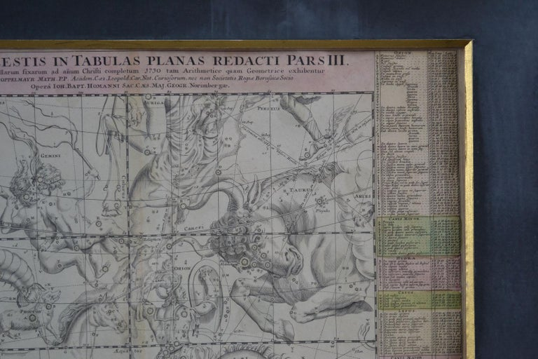 Engravings Celestial Charts, Cartographer, Astronomer Doppelmayr from 1740 For Sale 10