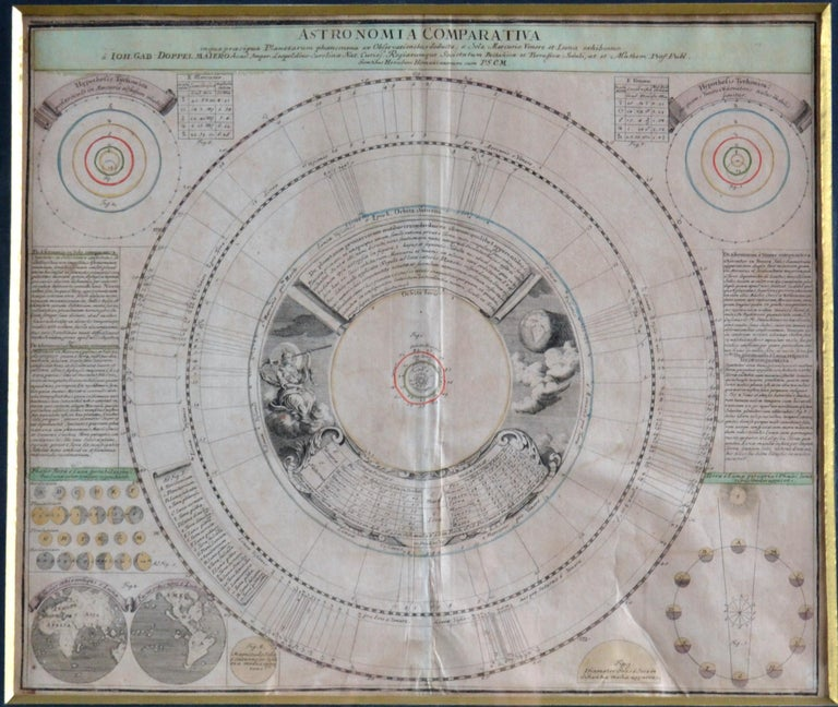 Six original 18th century copper-engraving of celestial charts etchings issued by Homann. Doppelmayr is the cartographer, astronomer and mathematician. He held the post of Professor of Mathematics at the Aegidien Gymnasium, Nuremberg from 1704-1750.