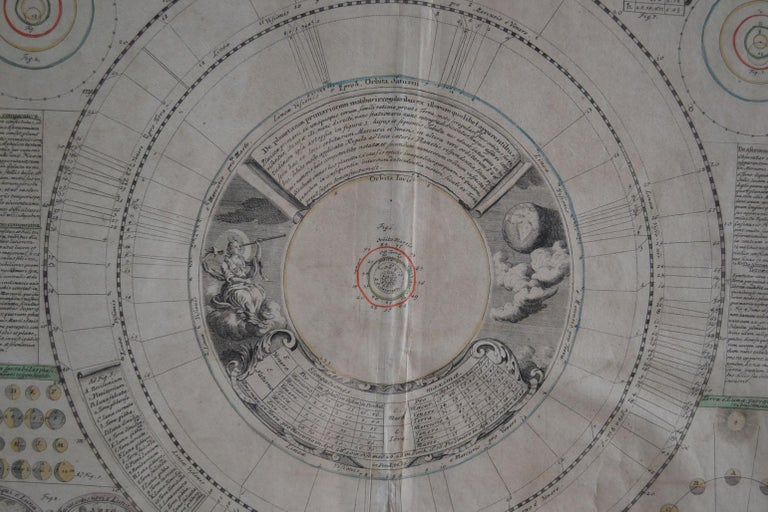 Hand-Crafted Engravings Celestial Charts, Cartographer, Astronomer Doppelmayr from 1740 For Sale