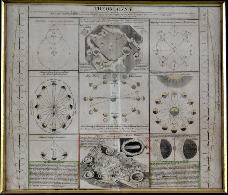 Engravings Celestial Charts, Cartographer, Astronomer Doppelmayr from 1740 In Good Condition For Sale In London, GB