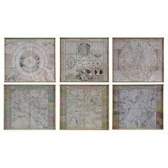 Engravings Celestial Charts, Cartographer, Astronomer Doppelmayr from 1740