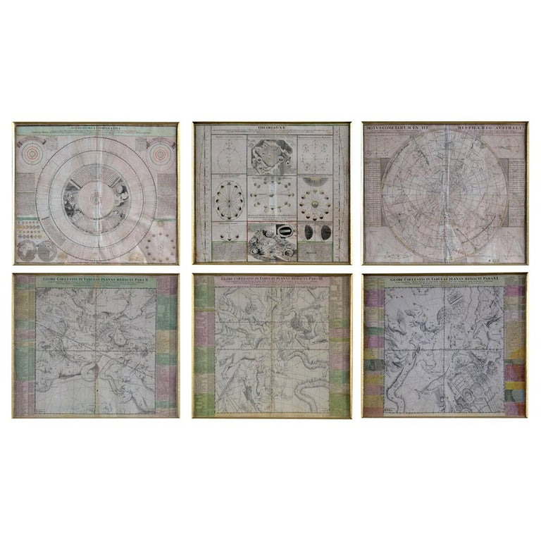 Engravings Celestial Charts, Cartographer, Astronomer Doppelmayr from 1740 For Sale