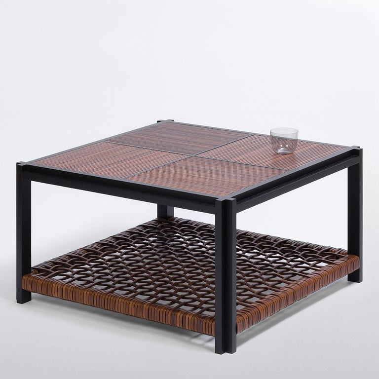 Enlaced Leather Coffee Table In New Condition For Sale In Paris, FR