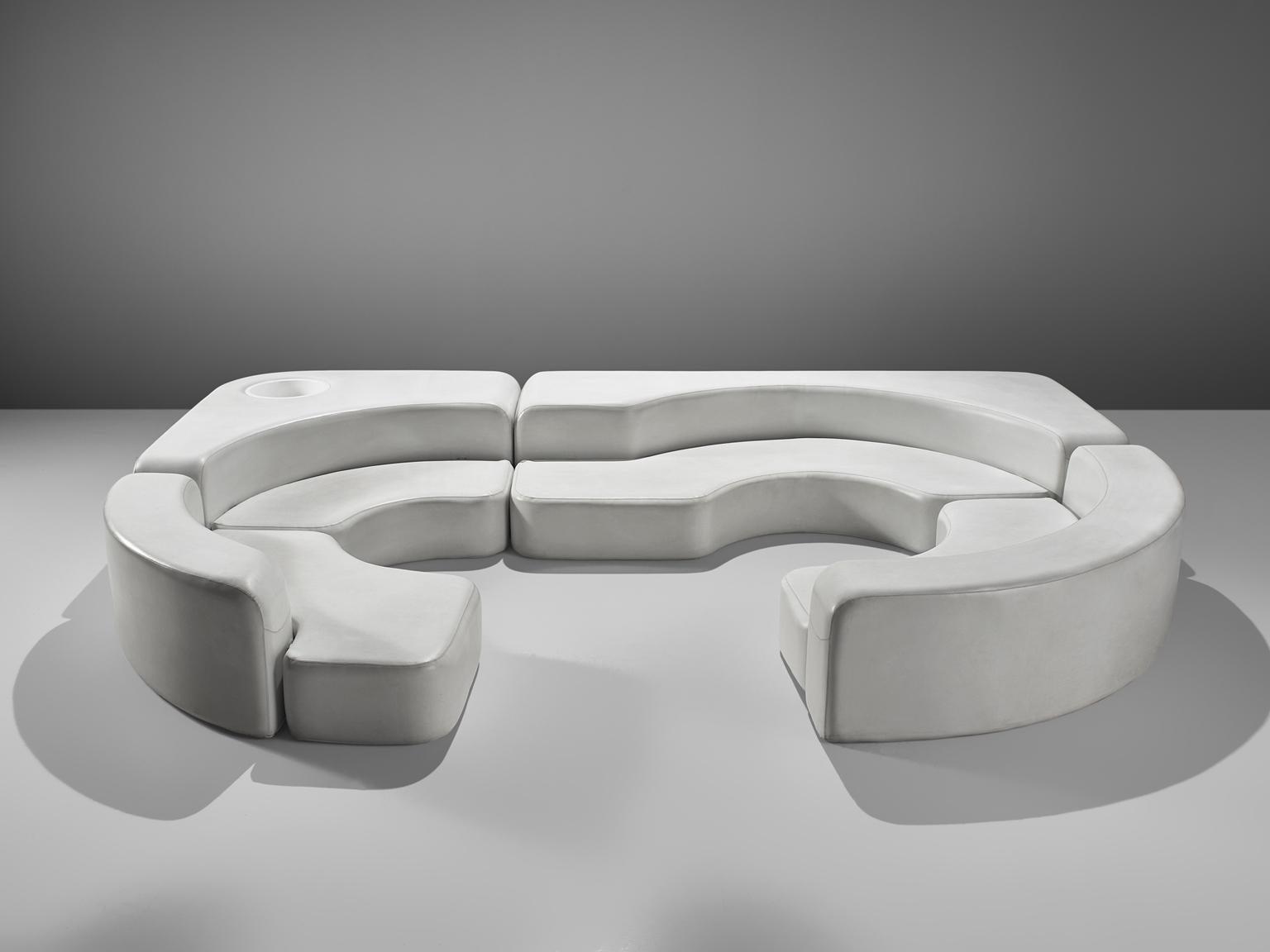 Ennio Chiggio White Faux Leather U0027Environ Oneu0027 Sofa