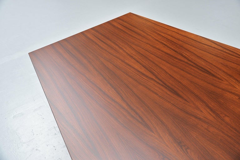 Mid-20th Century Ennio Fazioli MIM Tolomeo Dining Table in Rosewood, Italy, 1958 For Sale