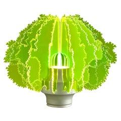 Ennio Lucini Cespuglio Rare Table Lamp in Green Acrylic
