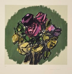 Bouquet - Original Lithograph by Ennio Morlotti - 1980s