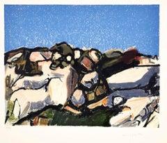Landscape - Original Lithograph by Ennio Morlotti - 1980s