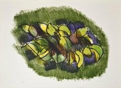 Lemon Branch - Original Lithograph by Ennio Morlotti - 1980s
