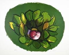 Magnolia - Original Lithograph by Ennio Morlotti - 1980s