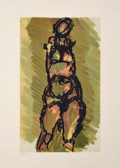 Untitled - Original Lithograph by Ennio Morlotti - 1980s