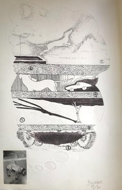 The Big Dream - Original Screen Print by Ennio Pouchard - 1976