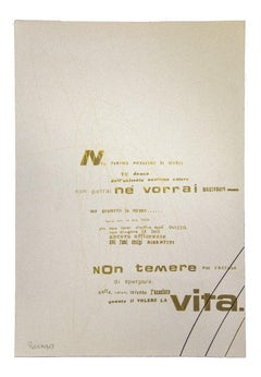 Visual Poetry - Original Screen Print by Ennio Pouchard - 1970