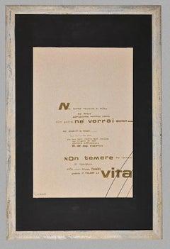Visual Poetry - Original Screen Print by Ennio Pouchard - 1970s