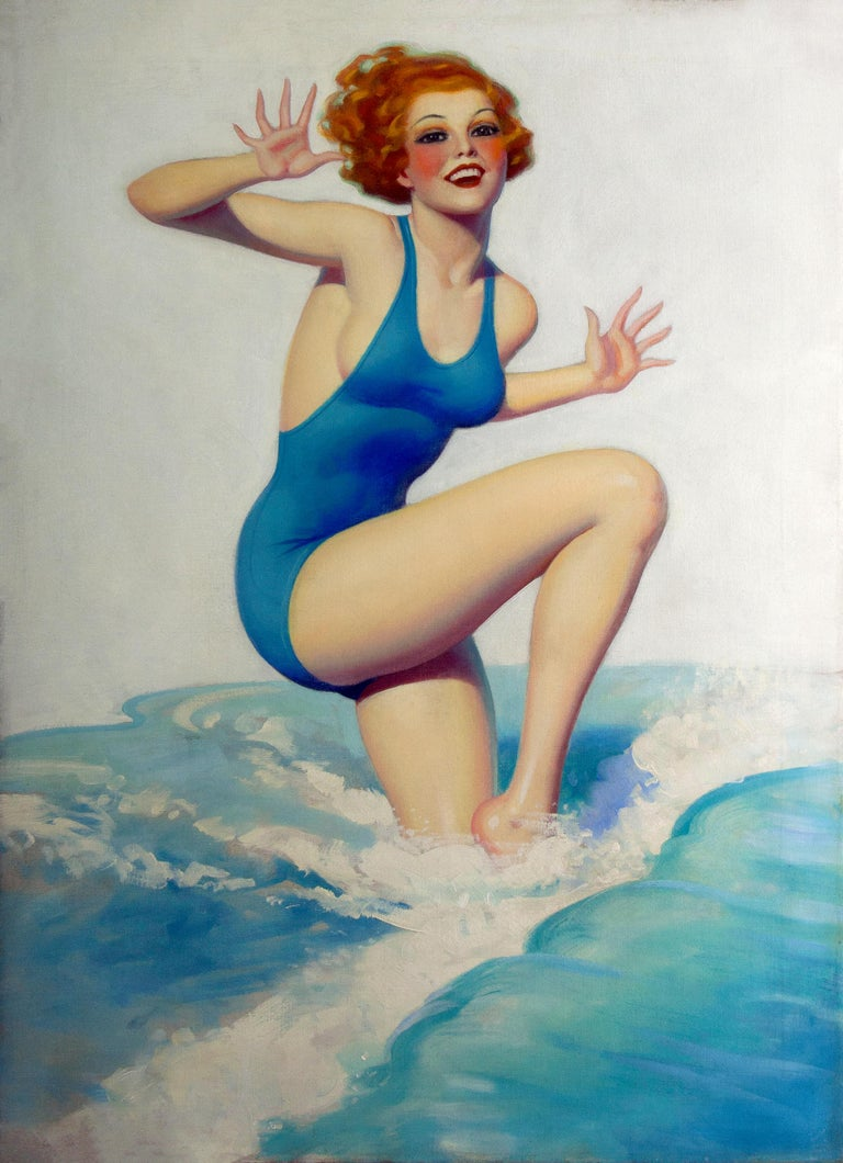 Worth Wading For - Painting by Enoch Bolles