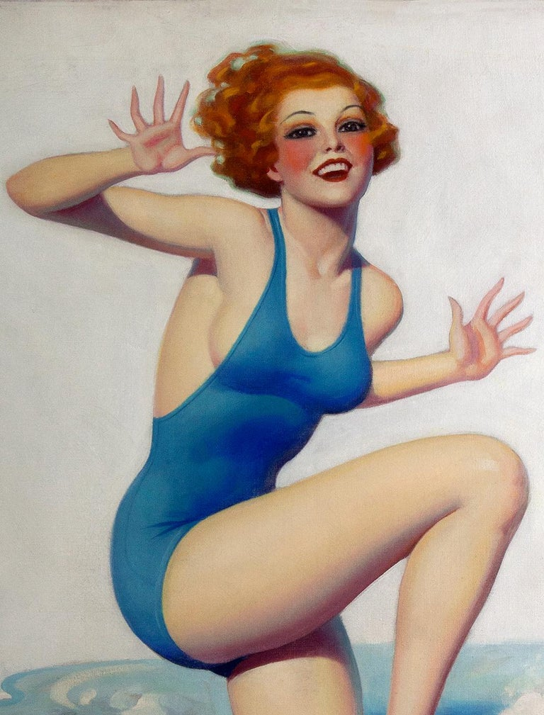 Worth Wading For - Art Deco Painting by Enoch Bolles