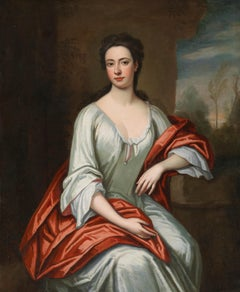 18th century Portrait of a Lady with a red cloak