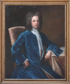 Oil Painting Portrait of The Hon George Treby, Secretary of War to George I.
