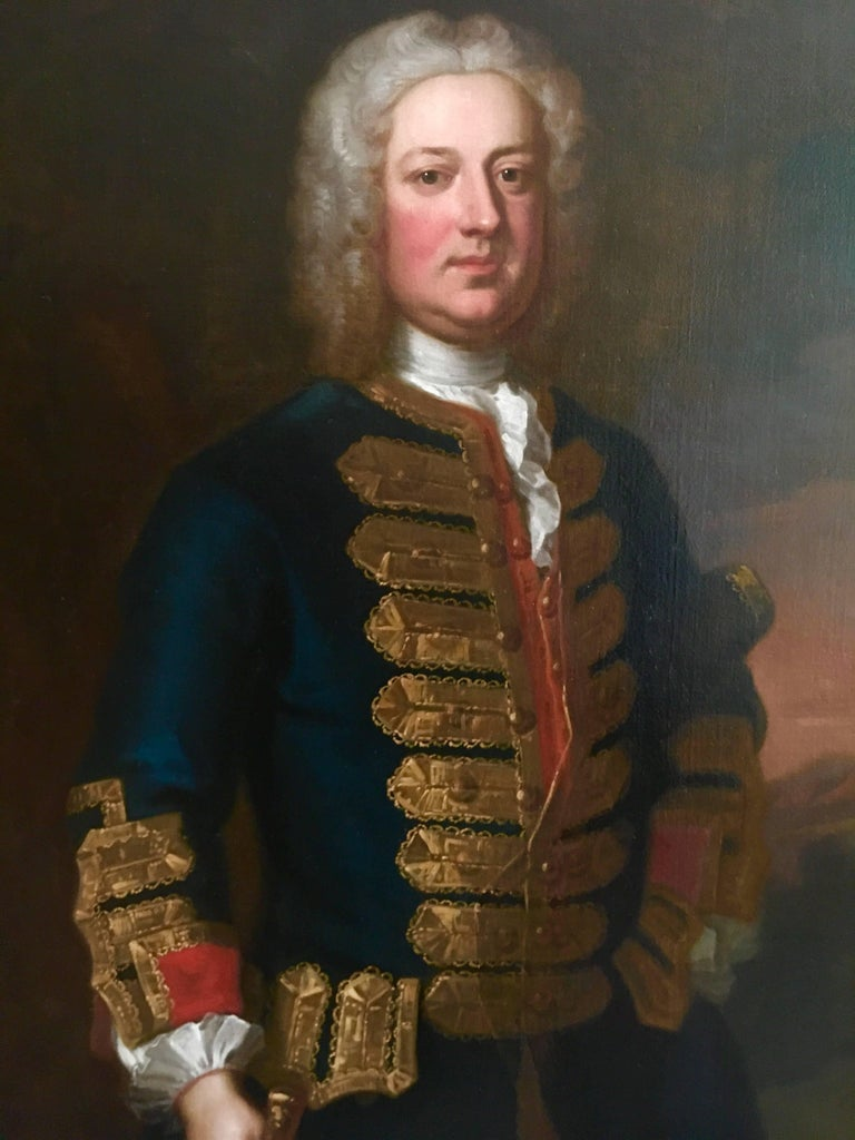 18th Century English Portrait of Leonard Smelt by Enoch Seeman. For Sale 1