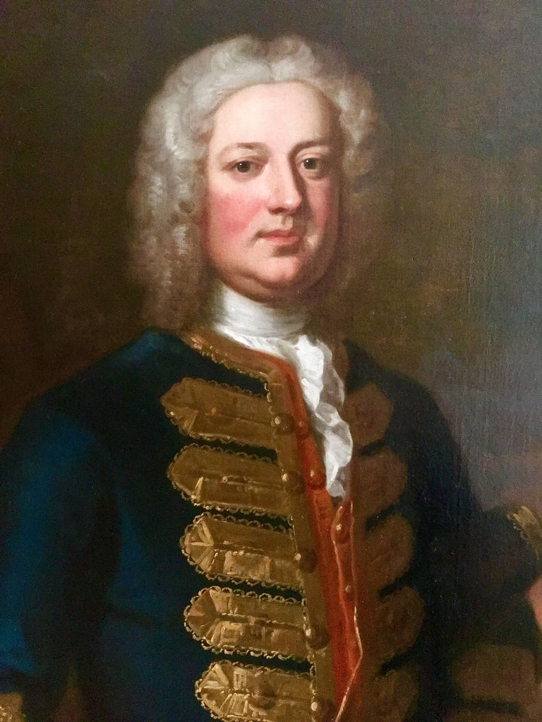 18th Century English Portrait of Leonard Smelt by Enoch Seeman. For Sale 2