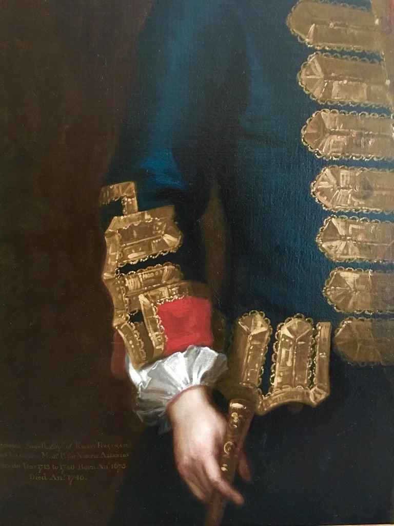 18th Century English Portrait of Leonard Smelt by Enoch Seeman. For Sale 3