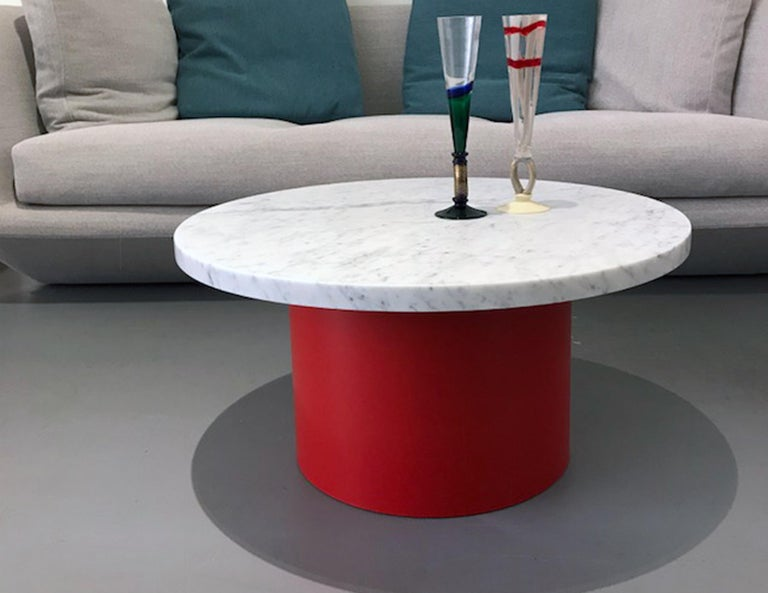 Enoki White Marble-Top Side Table by Philipp Mainzer In Excellent Condition For Sale In New York, NY