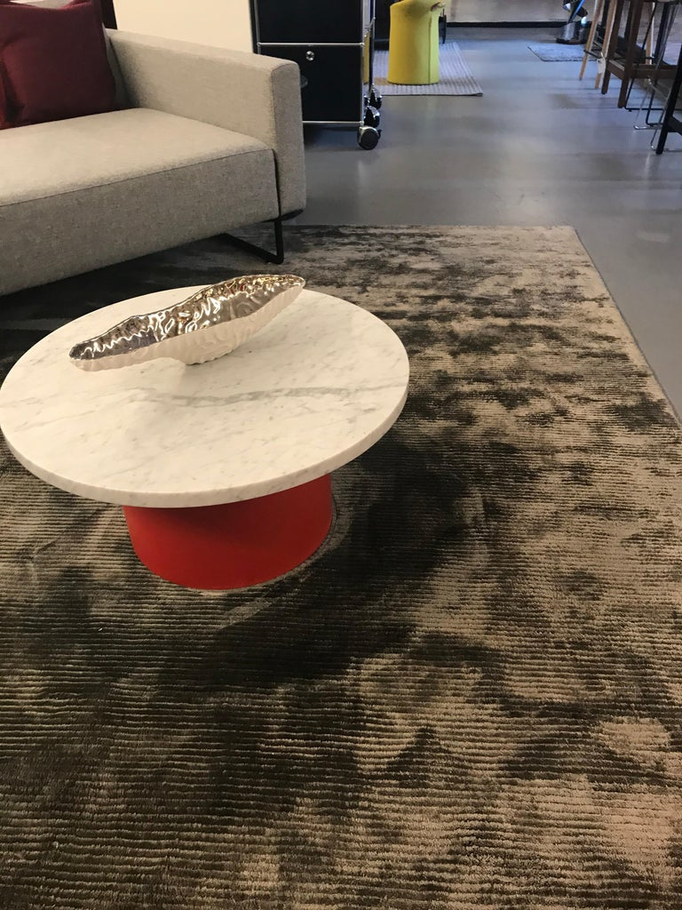 Enoki White Marble-Top Side Table by Philipp Mainzer For Sale 1